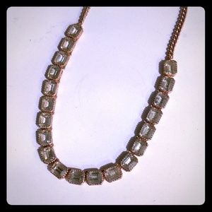 Fossil barely used rose gold plated necklace